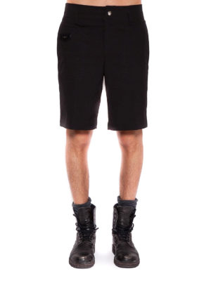Givenchy: Trousers Shorts online - Logo patch detail nylon bermuda