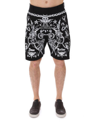 Givenchy: Trousers Shorts online - Tattoo print cotton twill shorts