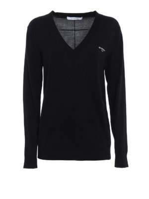 Givenchy: v necks - Wool and silk blend sweater