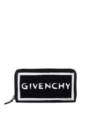 Givenchy: wallets & purses - Brushstroke-effect leather wallet