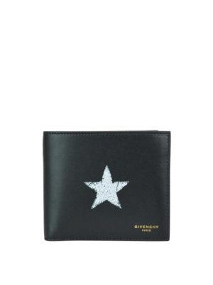 GIVENCHY: portafogli - Portafoglio bifold in pelle con stella