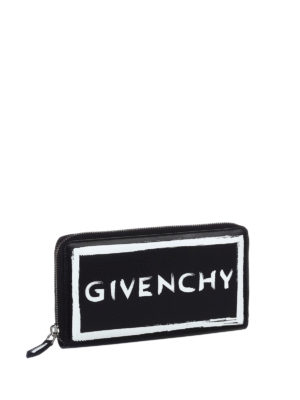 Givenchy: wallets & purses online - Brushstroke-effect leather wallet