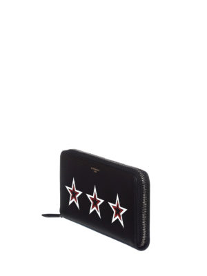 Givenchy: wallets & purses online - Stars detailed leather wallet