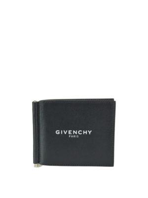 GIVENCHY: portafogli - Porta carte sei scomparti con clip metallica