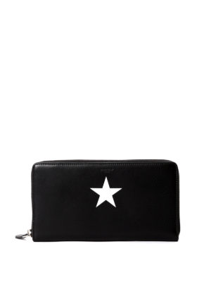 Givenchy: wallets & purses - Star printed zip around wallet