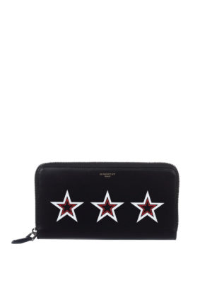 Givenchy: wallets & purses - Stars detailed leather wallet