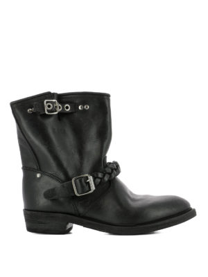 Golden Goose: ankle boots - Braided detail leather booties
