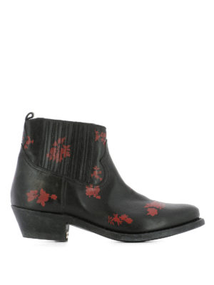 Golden Goose: ankle boots - Crosby leather western ankle boots