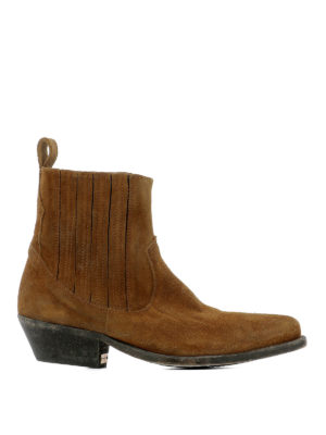 Golden Goose: ankle boots - Crosby suede western ankle boots