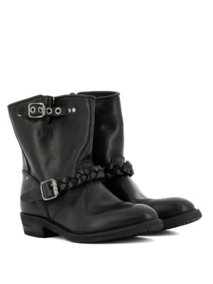 Golden Goose: ankle boots online - Braided detail leather booties