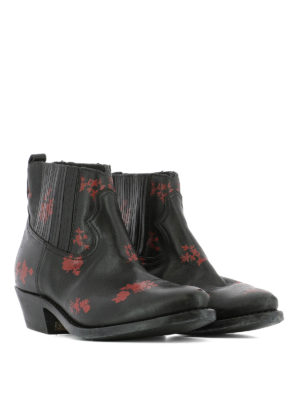 Golden Goose: ankle boots online - Crosby leather western ankle boots