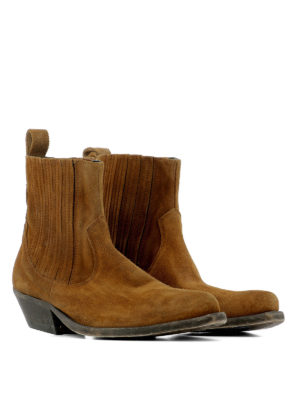 Golden Goose: ankle boots online - Crosby suede western ankle boots