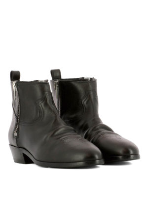 Golden Goose: ankle boots online - Embroidered leather ankle boots