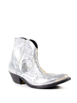 Golden Goose: ankle boots online - Young crackled leather ankle boots