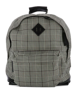 Golden Goose: backpacks - Combo check print backpack