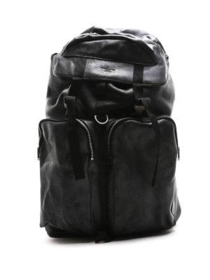 Golden Goose: backpacks - Vintage effect leather big backpack