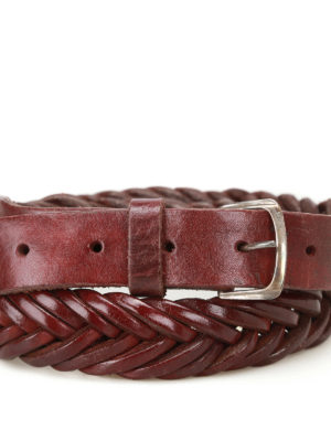 Golden Goose: belts online - Tube woven leather belt