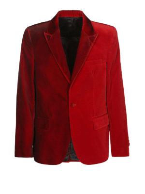 GOLDEN GOOSE: giacche blazer - Blazer in velluto liscio a un bottone
