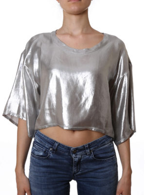 Golden Goose: blouses online - Short laminated fabric blouse