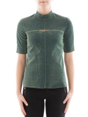 Golden Goose: blouses online - Short sleeve lurex blouse
