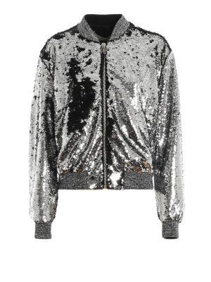 GOLDEN GOOSE: bombers - Scarlett two-tone sequin bomber jacket