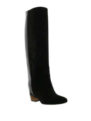 Golden Goose: boots online - Theresa suede and leather boots