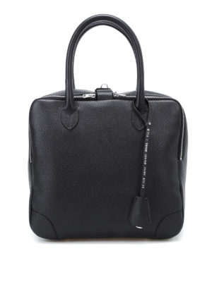 Golden Goose: bowling bags - Equipage leather compact handbag