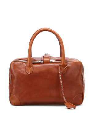 Golden Goose: bowling bags - Equipage leather handbag