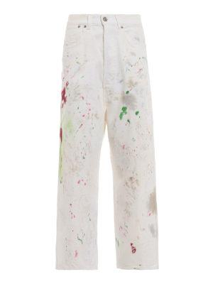 GOLDEN GOOSE: Boyfriend - Jeans Breezy in denim effetto pittura