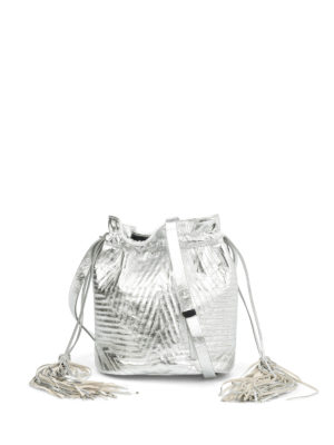 Golden Goose: Bucket bags - Estella laminated leather bag