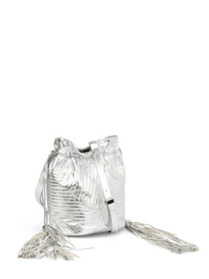 Golden Goose: Bucket bags online - Estella laminated leather bag