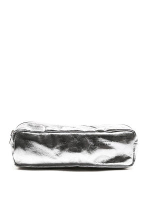 Golden Goose: Cases & Covers - Silver-tone nappa Butter Bag
