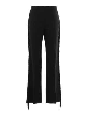 GOLDEN GOOSE: casual trousers - Abigail fringed trousers