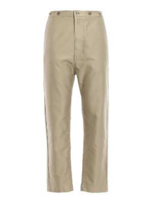Golden Goose: casual trousers - Baggy fit cotton chino trousers