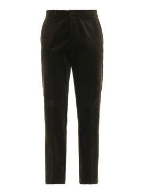 GOLDEN GOOSE: pantaloni casual - Pantaloni in velluto a gamba dritta