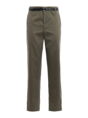 Golden Goose: casual trousers - Golden cotton over chino trousers