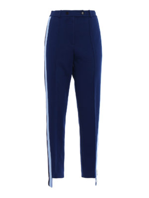 Golden Goose: casual trousers - Knitted side bands trousers