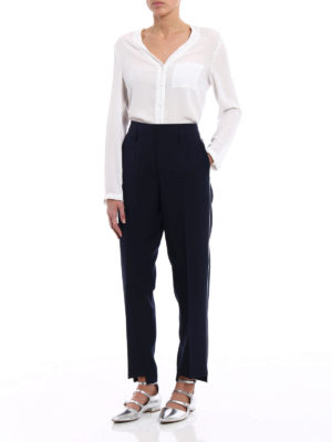 Golden Goose: casual trousers online - Golden contrasting piping chinos