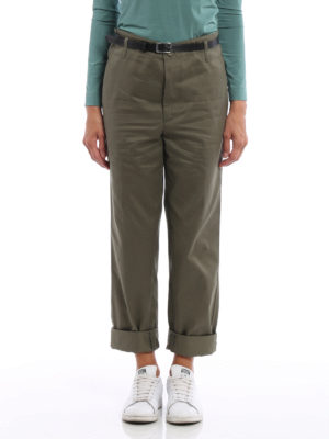 Golden Goose: casual trousers online - Golden cotton over chino trousers