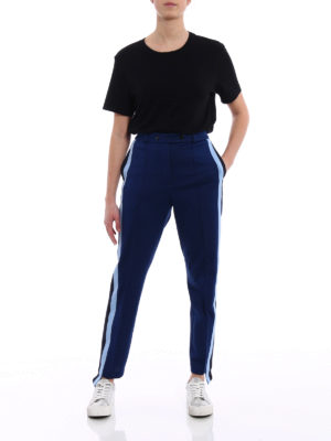 Golden Goose: casual trousers online - Knitted side bands trousers