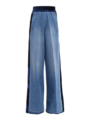 Golden Goose: casual trousers - Sophie double denim flared trousers