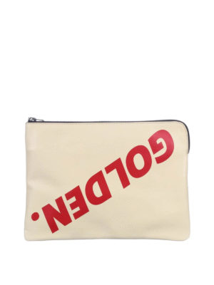 Golden Goose: clutches - Toast Bag leather clutch