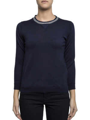 Golden Goose: crew necks online - Merino wool slim fit crewneck