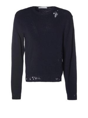 Golden Goose: crew necks - Ronnie destroyed cotton sweater