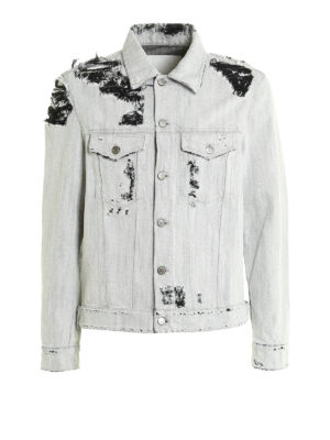Golden Goose: denim jacket - Destroyed denim jacket