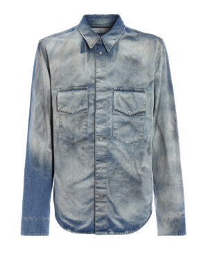 Golden Goose: denim jacket - Rowdy shirt denim style jacket