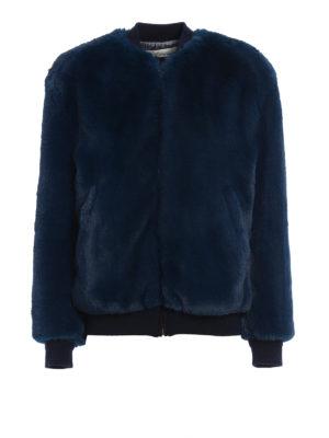 Golden Goose: Fur & Shearling Coats - Amanda fake fur bomber jacket