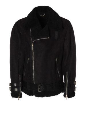 Golden Goose: Fur & Shearling Coats - Derek belted shearling jacket