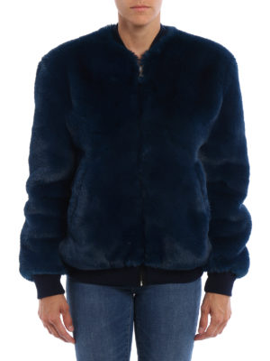 Golden Goose: Fur & Shearling Coats online - Amanda fake fur bomber jacket