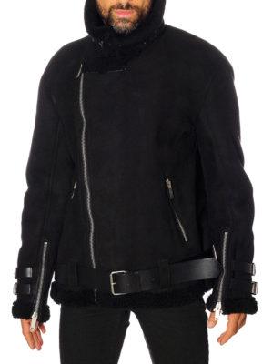 Golden Goose: Fur & Shearling Coats online - Derek belted shearling jacket